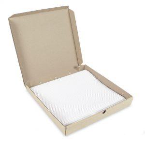กระดาษลูกฟูกรองอาหาร สี่เหลี่ยม ขนาด 14 นิ้ว