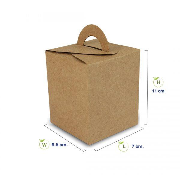 กล่องกระดาษคราฟท์-ทรงสี่เหลี่ยมจัตุรัสหูหิ้ว-dimension
