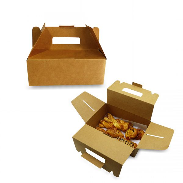 กล่องกระดาษคราฟท์-มีหูหิ้ว