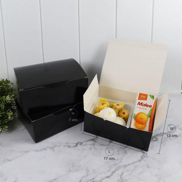 กล่องกระดาษใส่ขนม-snack-box-สีดำ-dimension-ปก