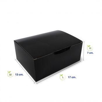 กล่องกระดาษใส่ขนม-snack-box-สีดำ-dimension-1