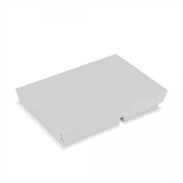 กล่องกระดาษใส่อาหาร 2 ช่อง สีขาว2