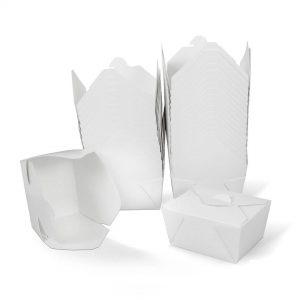 กล่องกระดาษใส่อาหาร To go ทรงกว้าง หูเกี่ยว 26 ออนซ์
