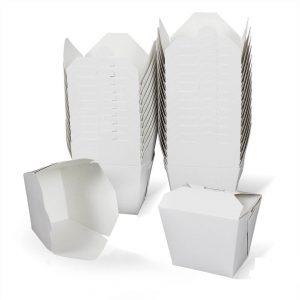 กล่องกระดาษใส่อาหาร To go ทรงสูง หูเกี่ยว 26 ออนซ์