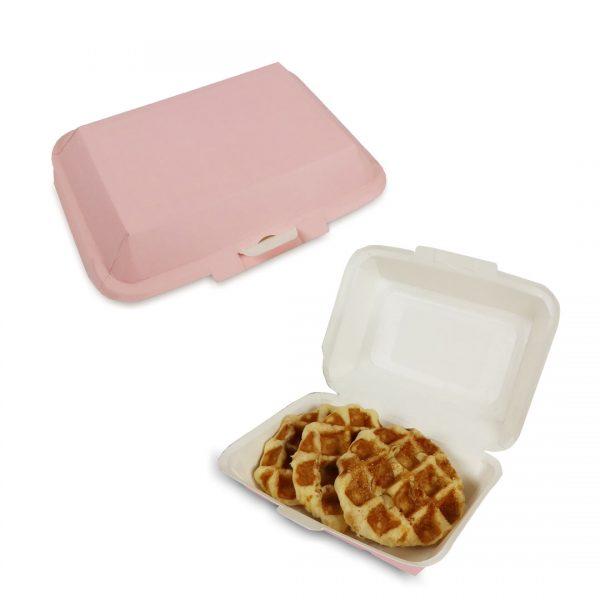กล่องข้าว ใส่อาหารปลอดภัย สีชมพู 725 ml.
