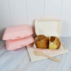 กล่องข้าว ใส่อาหารปลอดภัย สีชมพู 725 ml.3