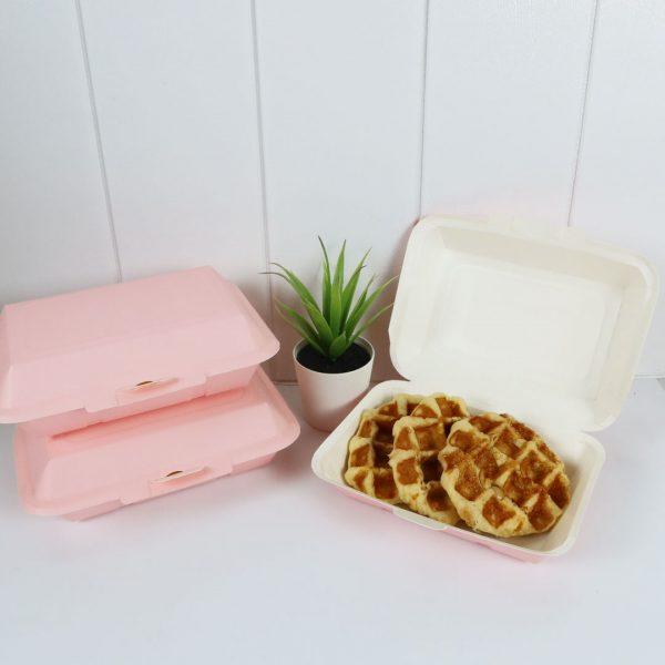 กล่องข้าว ใส่อาหารปลอดภัย สีชมพู 725 ml.7