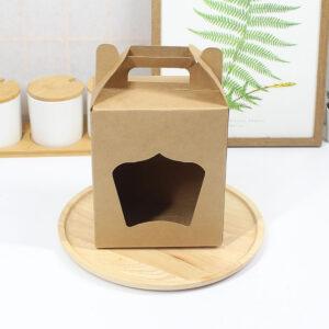 กล่องคุกกี้ 500 g. มีหน้าต่างและหูหิ้ว