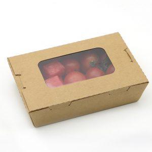 กล่องอาหาร กล่องมีช่อง กระดาษคราฟท์ มีหน้าต่าง 900 ml3