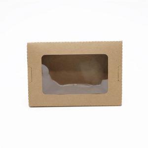 กล่องอาหาร กล่องมีช่อง กระดาษคราฟท์ มีหน้าต่าง 900 ml8