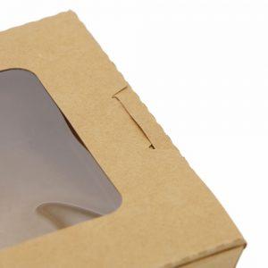 กล่องอาหาร กล่องมีช่อง กระดาษคราฟท์ มีหน้าต่าง 900 ml9