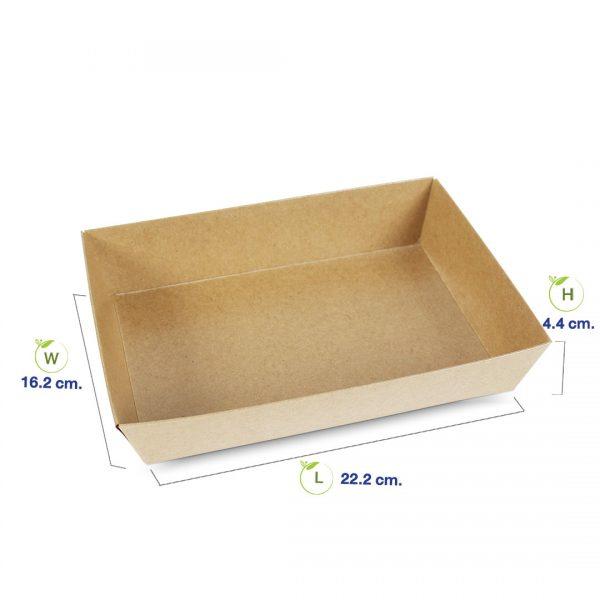 กล่องใส่ขนม-กล่องซูชิ-กล่องเบเกอรี่-ขนาด-1300-ml-dimension1