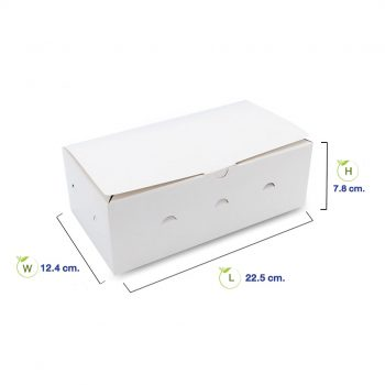 กล่องไก่ทอด-สีขาว-(Size-M)-dimension
