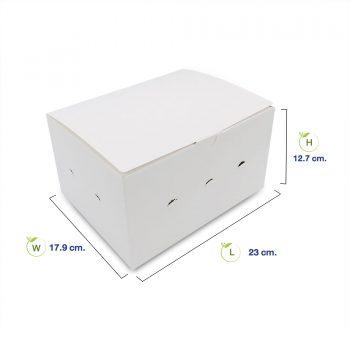 กล่องไก่ทอด-สีขาว-size-L-dimension