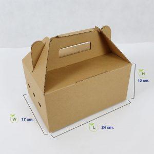 กล่องไดคัท-มีหูหิ้ว-(Size-S)-dimension