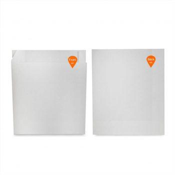 ซองกระดาษคราฟท์สีขาว 18.5x15x3 cm+3