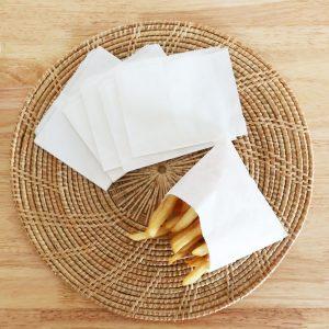 ซองกระดาษคราฟท์ สีขาว (ใส่เฟรนฟราย)2