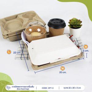 ถาดใส่เซตอาหารและเครื่องดื่ม(Eco-food-tray)