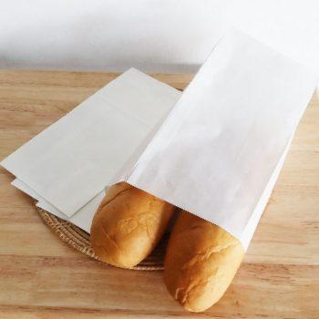 ถุงกระดาษคราฟท์ สีขาว size S-2
