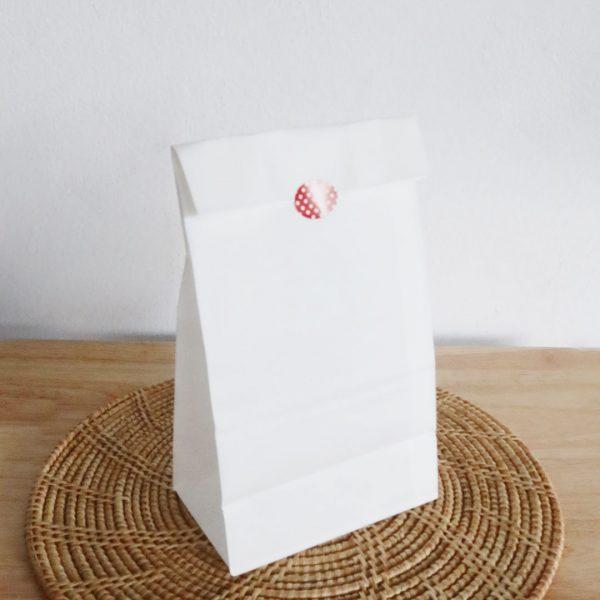 ถุงกระดาษคราฟท์ สีขาว size S-5