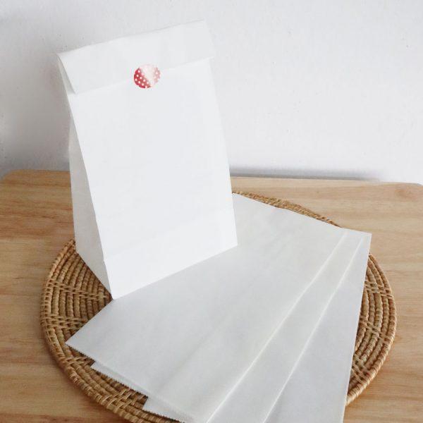 ถุงกระดาษคราฟท์ สีขาว size S