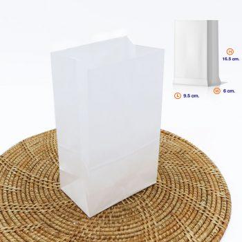 ถุงกระดาษคราฟท์ สีขาว size XS dimension-2
