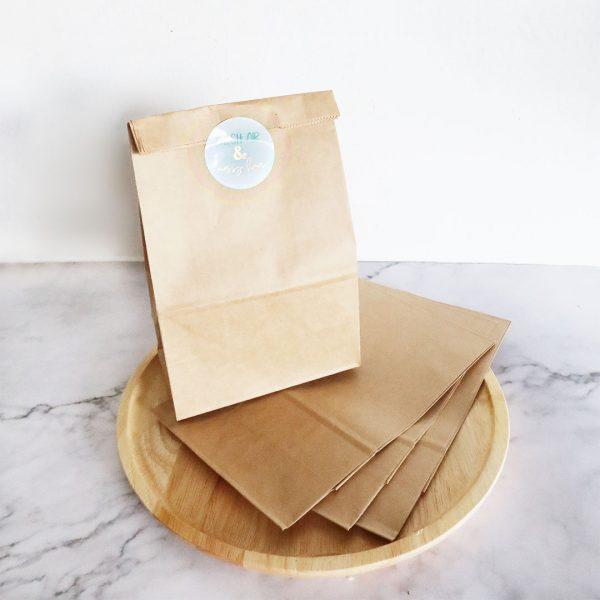 ถุงกระดาษคราฟท์ สีน้ำตาล S-2