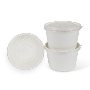 ฝาพลาสติกสีขาวใส ใช้กับถ้วย 28 ออนซ์-7