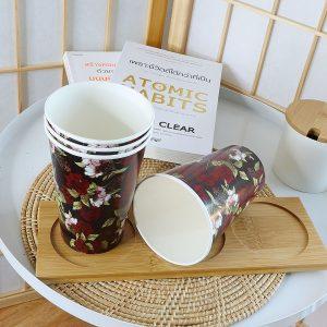 แก้วกระดาษลายดอกกุหลาบ-ขนาด-16-ออนซ์-(แก้วเย็น)