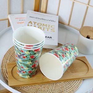 แก้วกระดาษลายดอกลีลาวดีขนาด16-ออนซ์-(แก้วเย็น)
