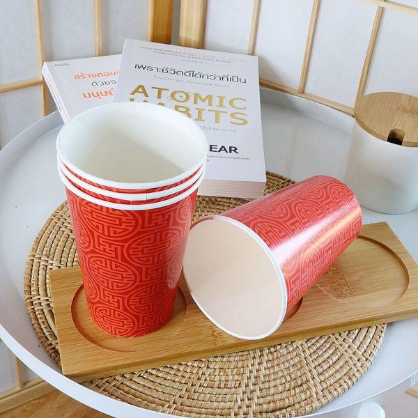 แก้วกระดาษลายสไตล์จีนสีแดง-ขนาด-16-ออนซ์-(แก้วเย็น)
