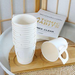 แก้วกระดาษสีขาว-6.5-oz-มีหูจับ