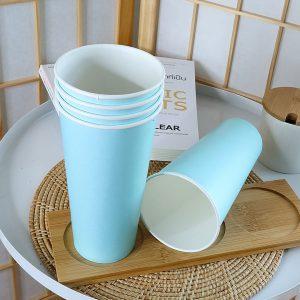 แก้วกระดาษสีฟ้าพาสเทล16-ออนซ์-(ไม่รวมฝา)