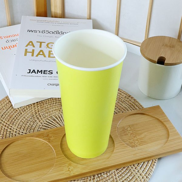 แก้วกระดาษสีเขียวมะนาว22-ออนซ์-(ไม่รวมฝา)