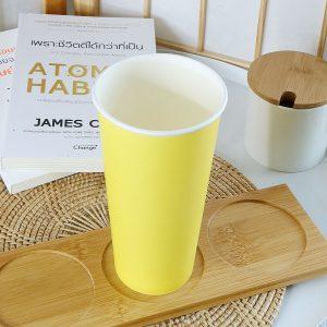 แก้วกระดาษ-สีเหลืองเลมอน-22-ออนซ์-(ไม่รวมฝา)