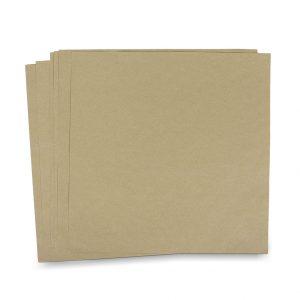 กระดาษรองจาน กระดาษห่อโดนัท สีน้ำตาลธรรมชาติ 10x10 นิ้ว