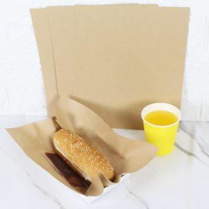 กระดาษห่อ Hotdog สีน้ำตาลธรรมชาติ 8x10 นิ้ว