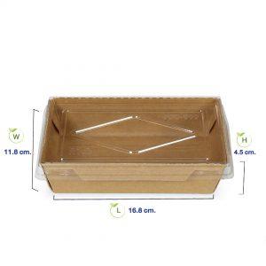 กล่องกระดาษคราฟท์ใส่อาหาร กล่องใส่อาหารญี่ปุ่น กล่องใส่อาหารเกาหลี