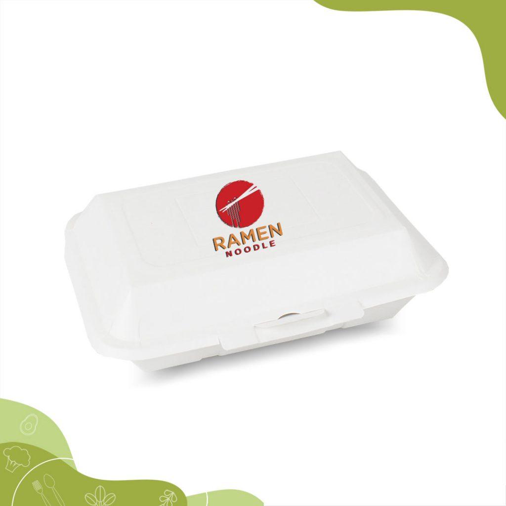 กล่องข้าวสีขาว 725 ML พิมพ์โลโก้