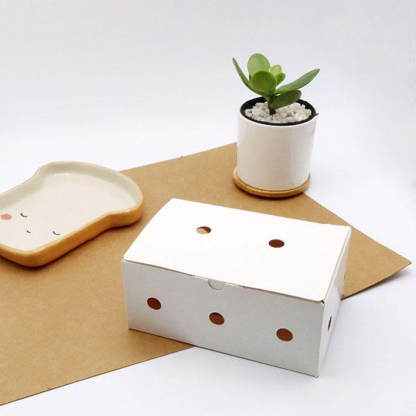 กล่องไก่ทอดบอนชอน-สีขาวบรรจุ-6-7-ชิ้น-(Size-S)