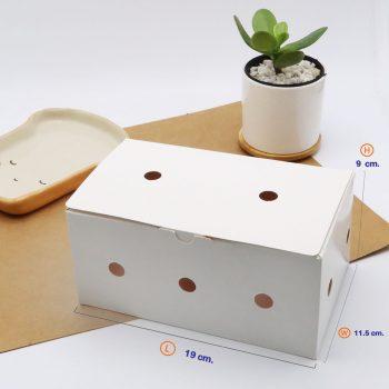 กล่องไก่ทอด สีขาว บรรจุ 13-15 ชิ้น (Size M) ขนาดเดียวกับ กล่องไก่ทอดบอนชอน dimension.jpg
