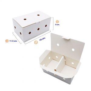 กล่องไก่ทอด สีขาว บรรจุ 13-15 ชิ้น (Size M) ขนาดเดียวกับ กล่องไก่ทอดบอนชอน3