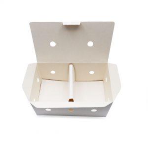 กล่องไก่ทอด สีขาว บรรจุ 13-15 ชิ้น (Size M) ขนาดเดียวกับ กล่องไก่ทอดบอนชอน5