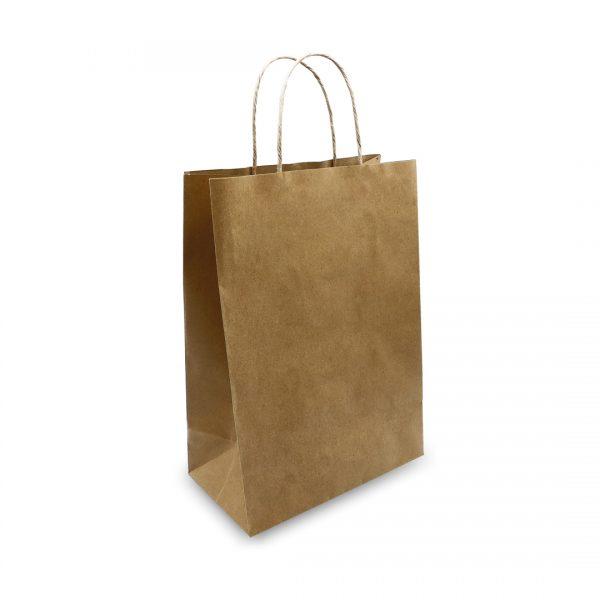 ถุงกระดาษคราฟท์มีหูหิ้ว สีน้ำตาล-2