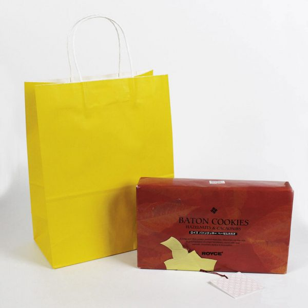 ถุงกระดาษคราฟท์มีหูหิ้ว สีเหลือง-2
