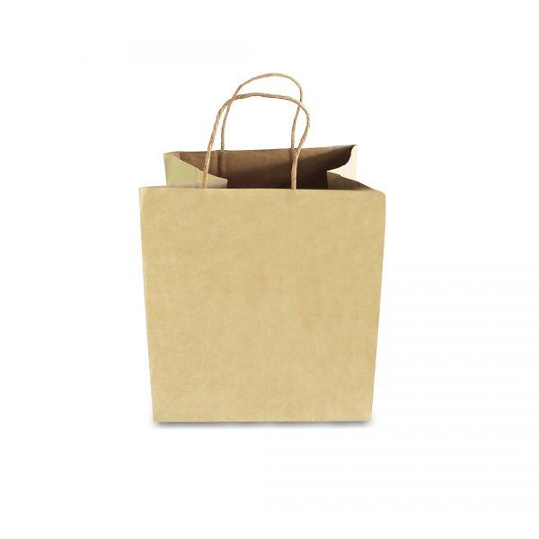 ถุงกระดาษคราฟท์ (Size L) หูหิ้วเกลียว 28x26x28 cm ใส่กล่องเค้ก 2 ปอนต์-3