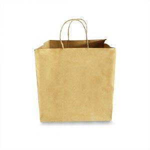 ถุงกระดาษคราฟท์ (Size L) หูหิ้วเกลียว 31x29x30 cm ใส่กล่องเค้ก 3 ปอนต์-2