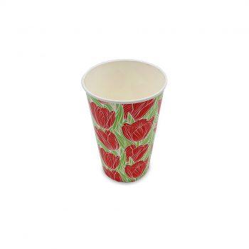 แก้วกระดาษ-ลายดอกทิวลิป-16-ออนซ์-2