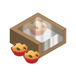 กล่องกระดาษใส่ขนม กล่องเบเกอรี่ กล่องสแน็คบ๊อก กล่องซูชิ