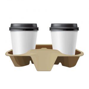 ถาดใส่แก้ว ผลิตจากกระดาษ(Paper Cup Carrier)